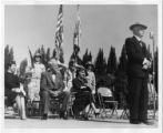 [Florida Southern College R.O.T.C. ceremony on the south deck of the J. Edgar Wall Water Dome:...