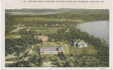 Airplane view of Southern College on Lake Hollingsworth, Lakeland, Fl