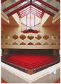 Interior view of the Frank Lloyd Wright-designed Annie Pfieffer Chapel (1941)