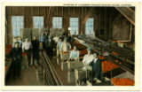 Interior of a modern orange packing house, Florida