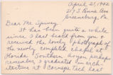 [Letter] 1942 April 21, Greensburg, Pa. [to] Dr. Ludd M. Spivey, [Lakeland, Fla.]